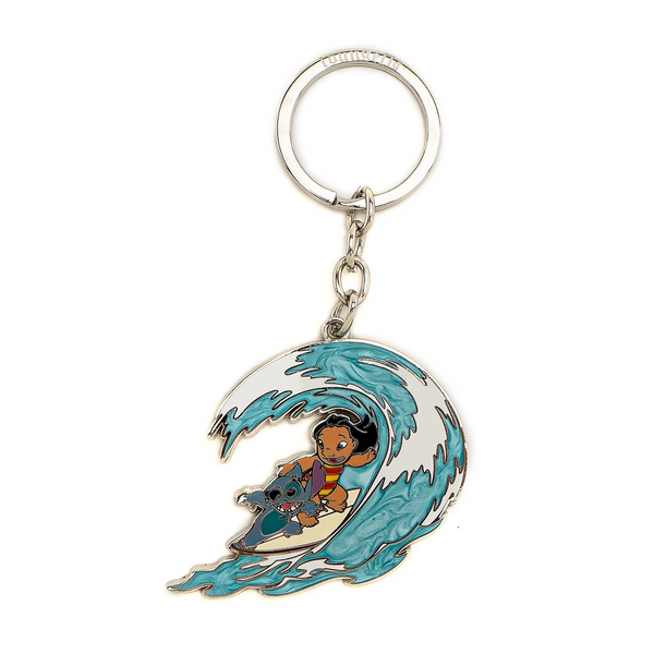 Loungefly Disney Lilo and Stitch Hawaiian Rollercoaster Ride Enamel Keychain