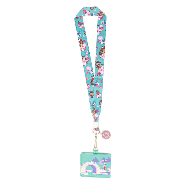Loungefly Disney Mulan Cherry Blossom Lanyard with Cardholder
