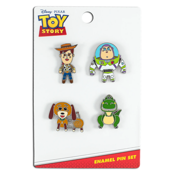 Loungefly Disney Toy Story 4 Piece Enamel Pin Set