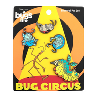 Loungefly Pixar A Bug's Life Circus Bugs 4 Pc Enamel Pin Set
