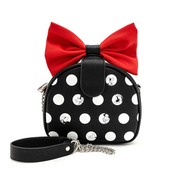 Loungefly Disney Minnie Mouse Big Red Bow Crossbody Bag