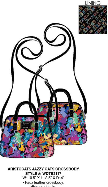 Loungefly Disney Aristocats Jazzy Cats Crossbody PRE-ORDER, Price $65
