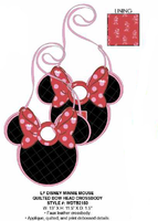 Loungefly Disney Minnie Mouse Quilted Bow Head Crossbody PRE-ORDER PRICE $68