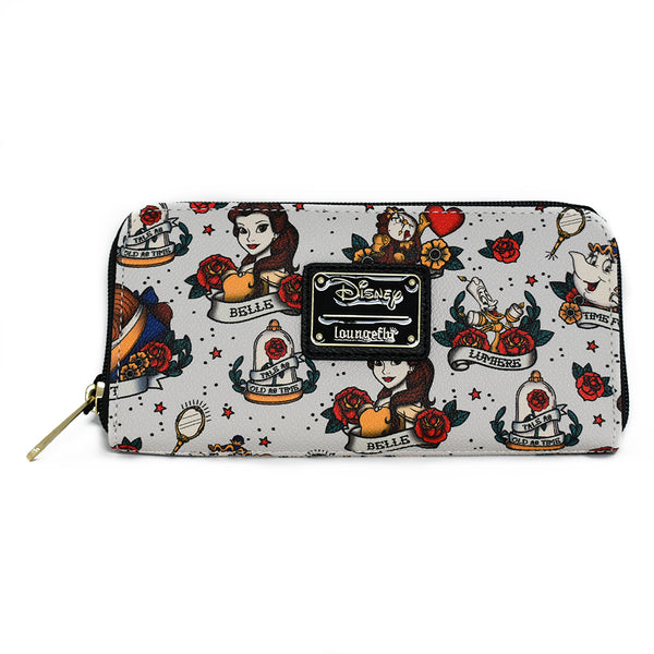 Loungefly Beauty and the Beast Tattoo Wallet