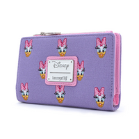 Loungefly Disney Daisy Duck Embroidered Canvas Flap Wallet