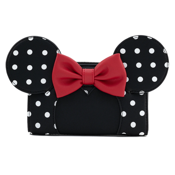 Loungefly Minnie Mouse Black and White Polka Dot Wallet