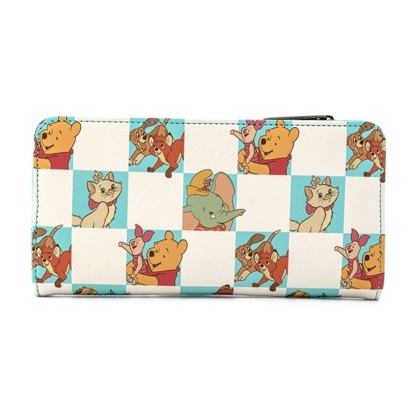 Loungefly Disney Classics Mint Checker Wallet