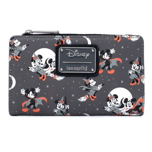 Loungefly Disney Mickey and Minnie Halloween Vamp Witch Wallet