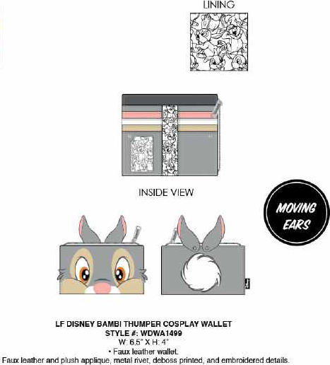 Loungefly Disney Bambi Thumper Cosplay Wallet PRE-ORDER PRICE $40