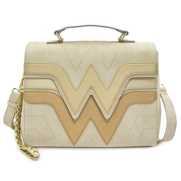 Loungefly DC Comics Wonder Woman Quilted Die Cut Flap Crossbody
