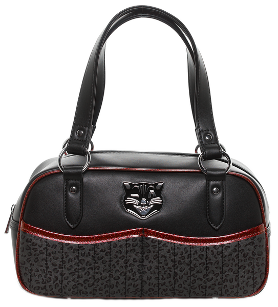 Sourpuss Jinx Tessa Black and Red Purse
