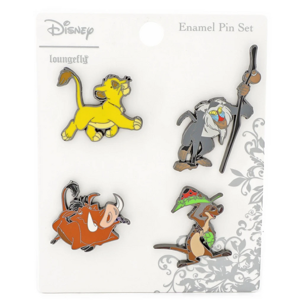 Loungefly Disney Lion King 4 Piece Enamel Pin Set