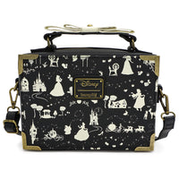 Loungefly Disney Black and White Princess Print Crossbody