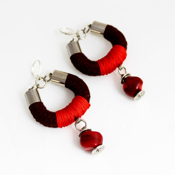 Autumnal Wrapped Rope Earrings - Terminology