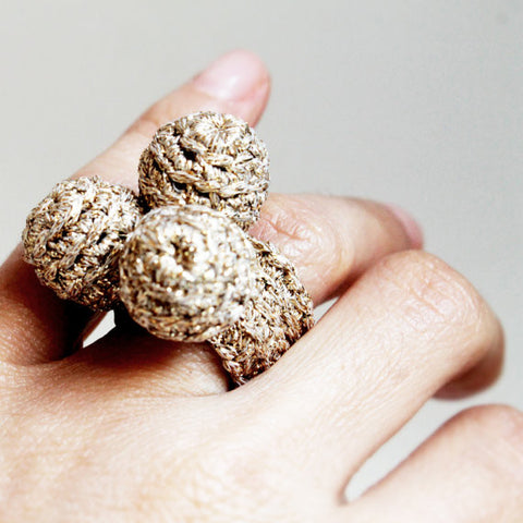 Golden Spheres Crochet Ring - Terminology