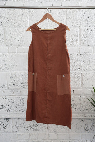 Vintage 1960s Patch-pocket Corduroy Shift Dress - Terminology