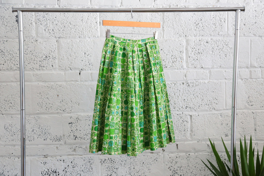 Vintage Geo-illustration A-line Skirt - Terminology