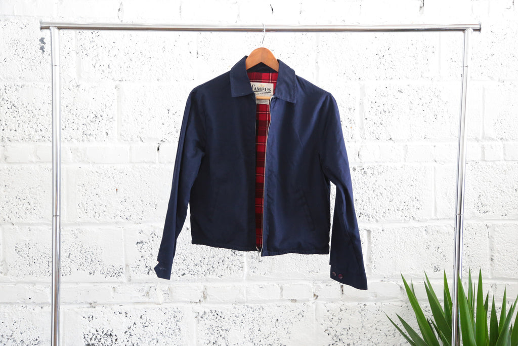 Deadstock 1960's Campus Outerwear Flannel-lined Collared Jacket - Terminology