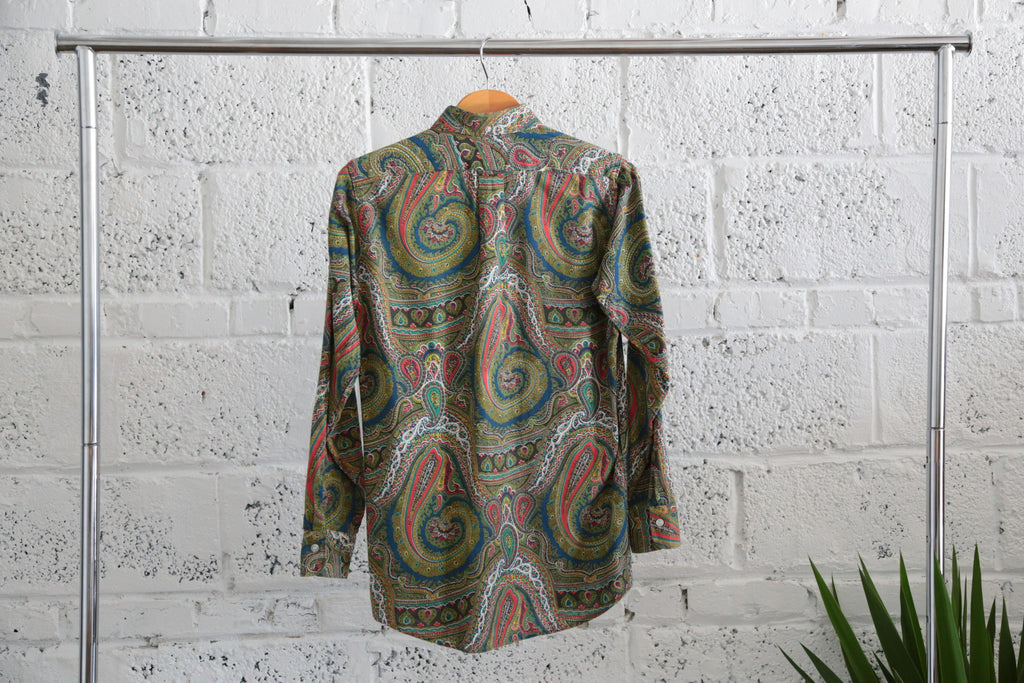 Vintage 1960s Paisley-print Button-down Shirt - Terminology