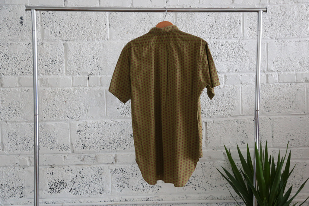 Vintage 1960's Men Half Button Down Short Sleeve Shirt - Terminology