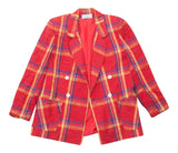 Vintage La Bonne Red Plaid Blazer - Terminology