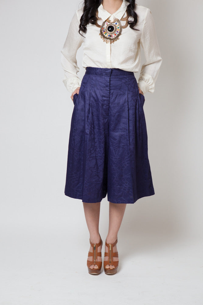 Vintage Purple Printed Culotte Pants - Terminology