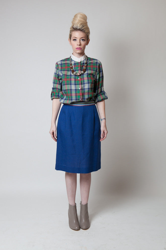 Vintage 1970s Ribbon Belt Pencil Skirt