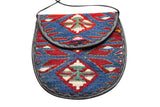 Vintage 1970s Multi-coloured Tapestry Cross Body Satchel Bag - Terminology