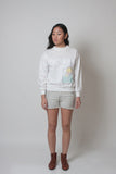 Vintage Jantzen White Palm Tree Sweatshirt - Terminology