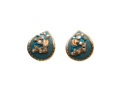 Vintage Turquoise Teardrop Earrings - Terminology