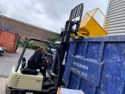 Tipping A Forklift Skip At Height