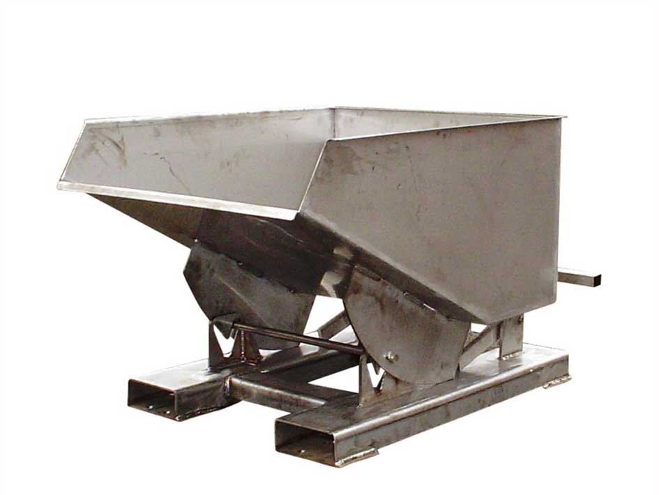 Stainless Steel Forklift Tipping Skip