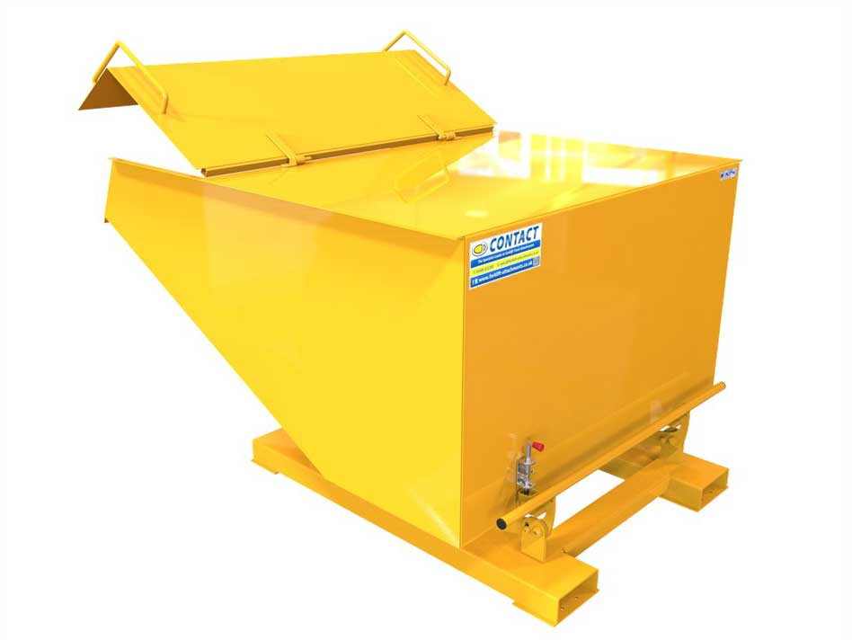 Tipping Skip With Lid