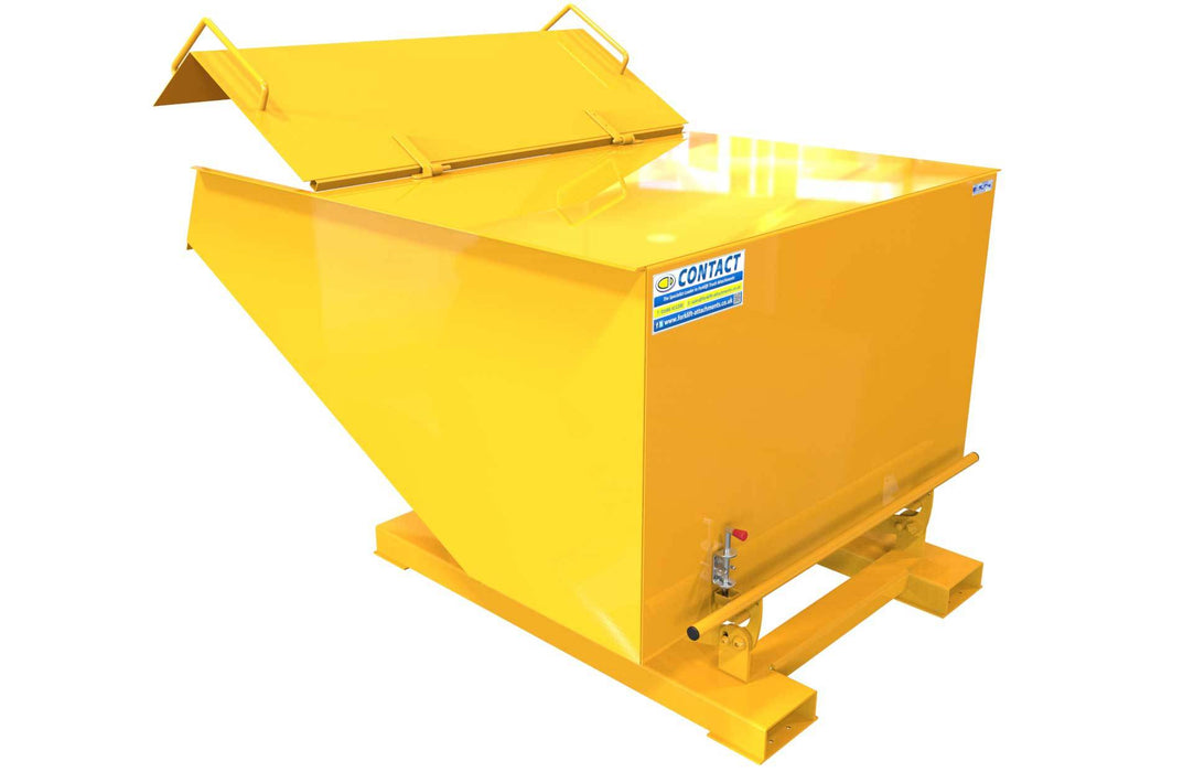 Forklift Tipping Bin With Lid