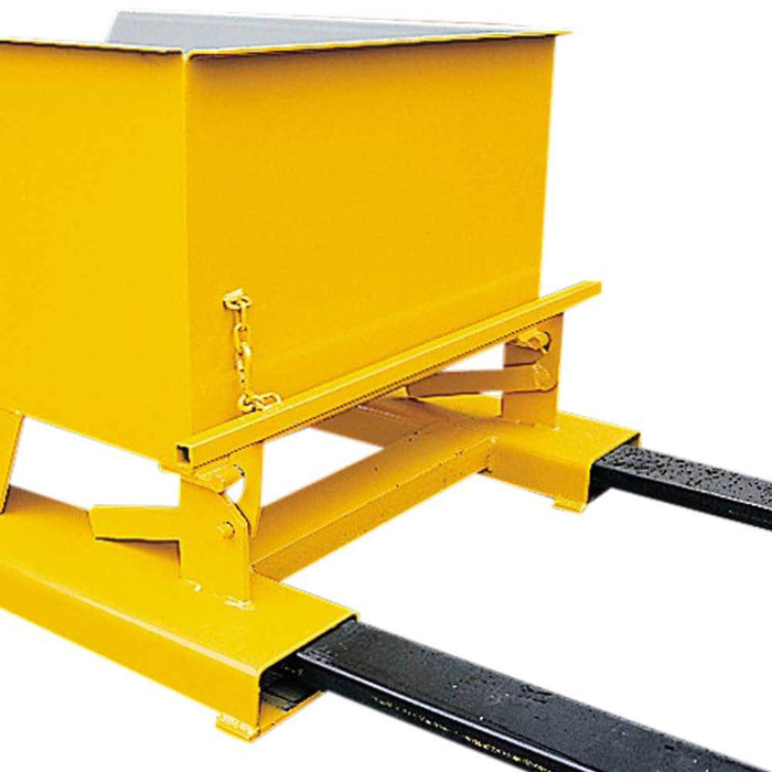 Tipping Bin Fitted To Fork Truck