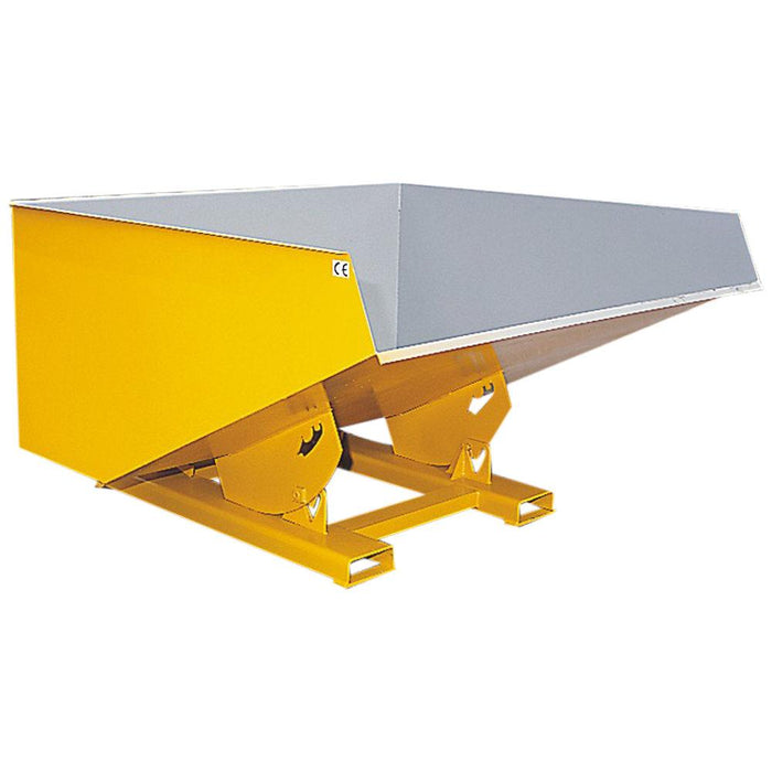 Tipping bin attachment for fork truck