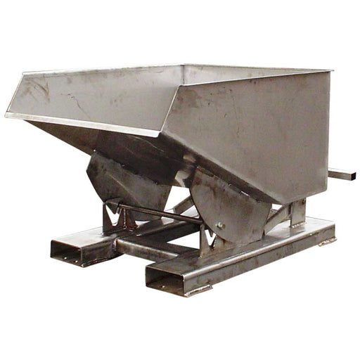 Forklift Tipping Bin In Stainless Steel