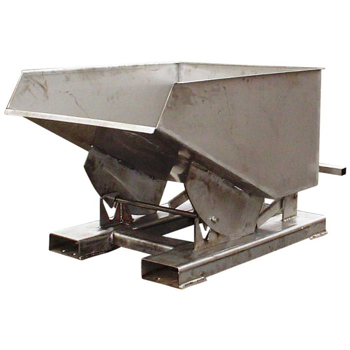Stainless Steel Tipping Bin For Forklift