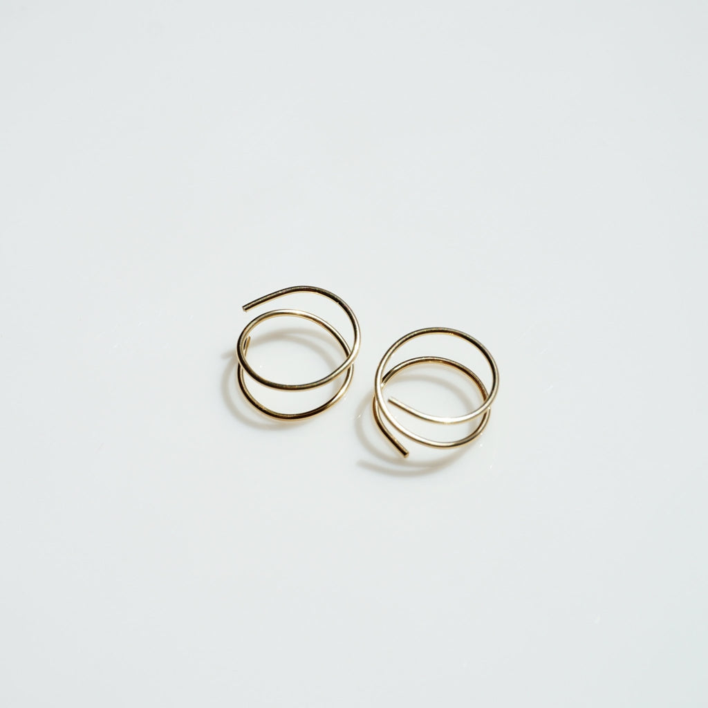 Bodega Double Hoops - Delicora Jewelry