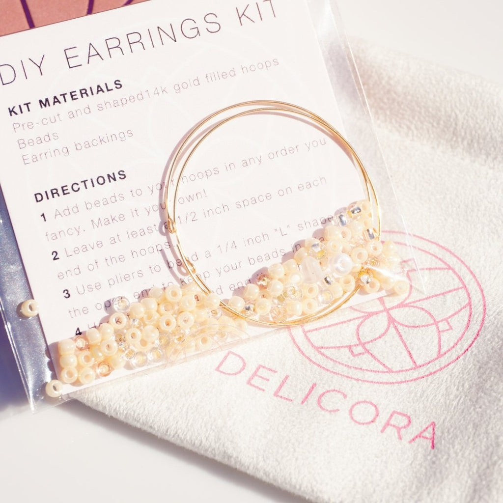 Champagne Dreams DIY Earrings - Delicora Jewelry
