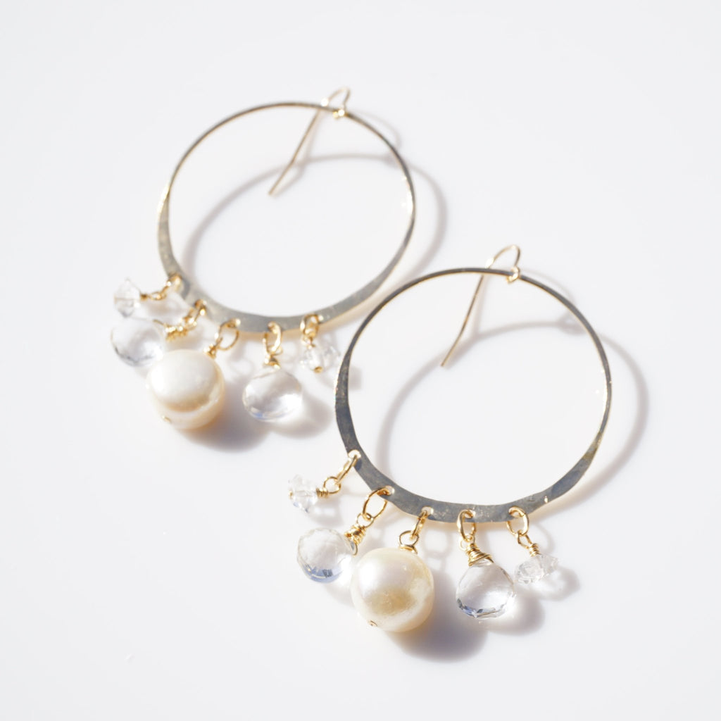 Champagne Hoops - Delicora Jewelry