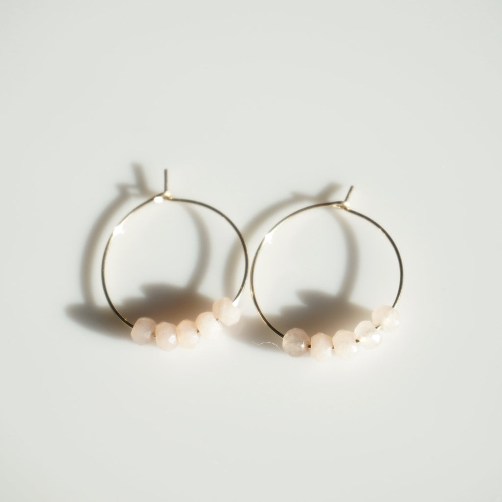 Dao Jade Mini Hoops - Delicora Jewelry