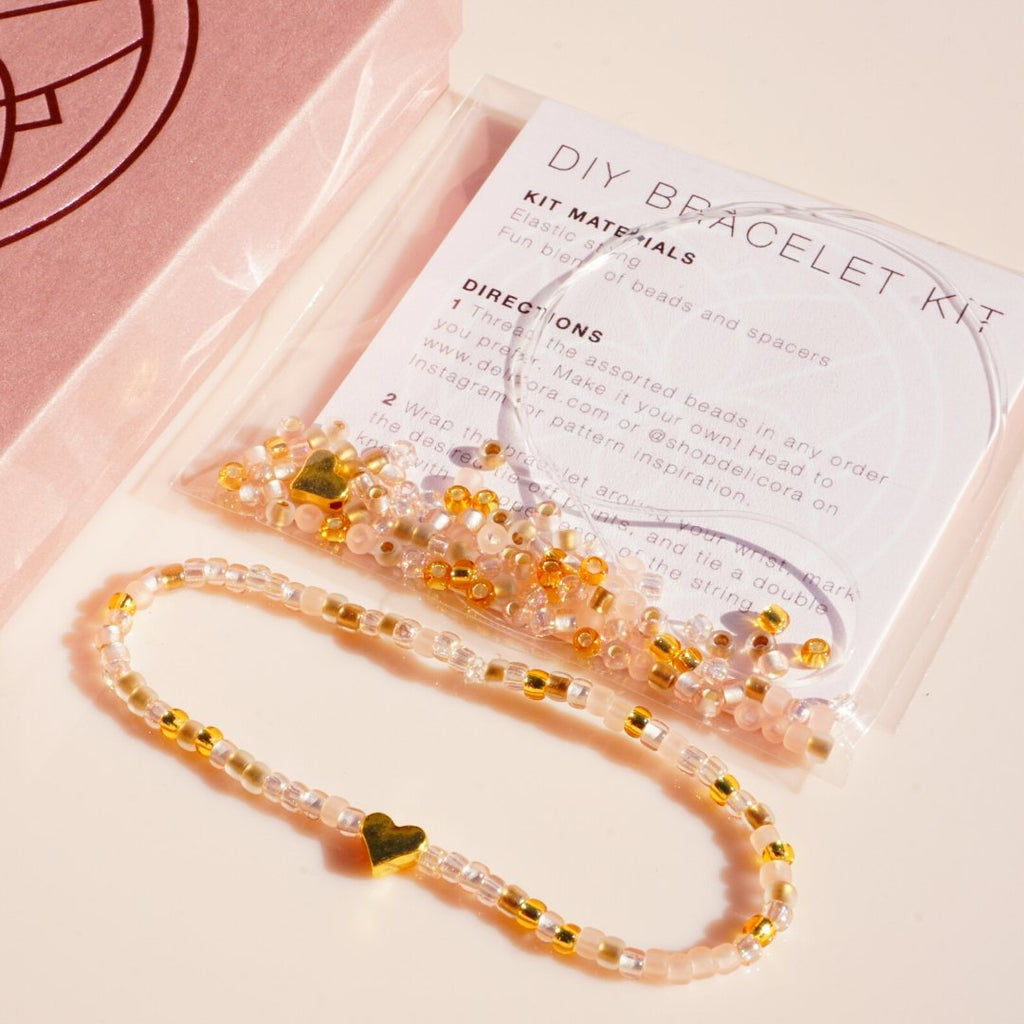 Heart of Gold DIY Bracelet Kit - Delicora Jewelry