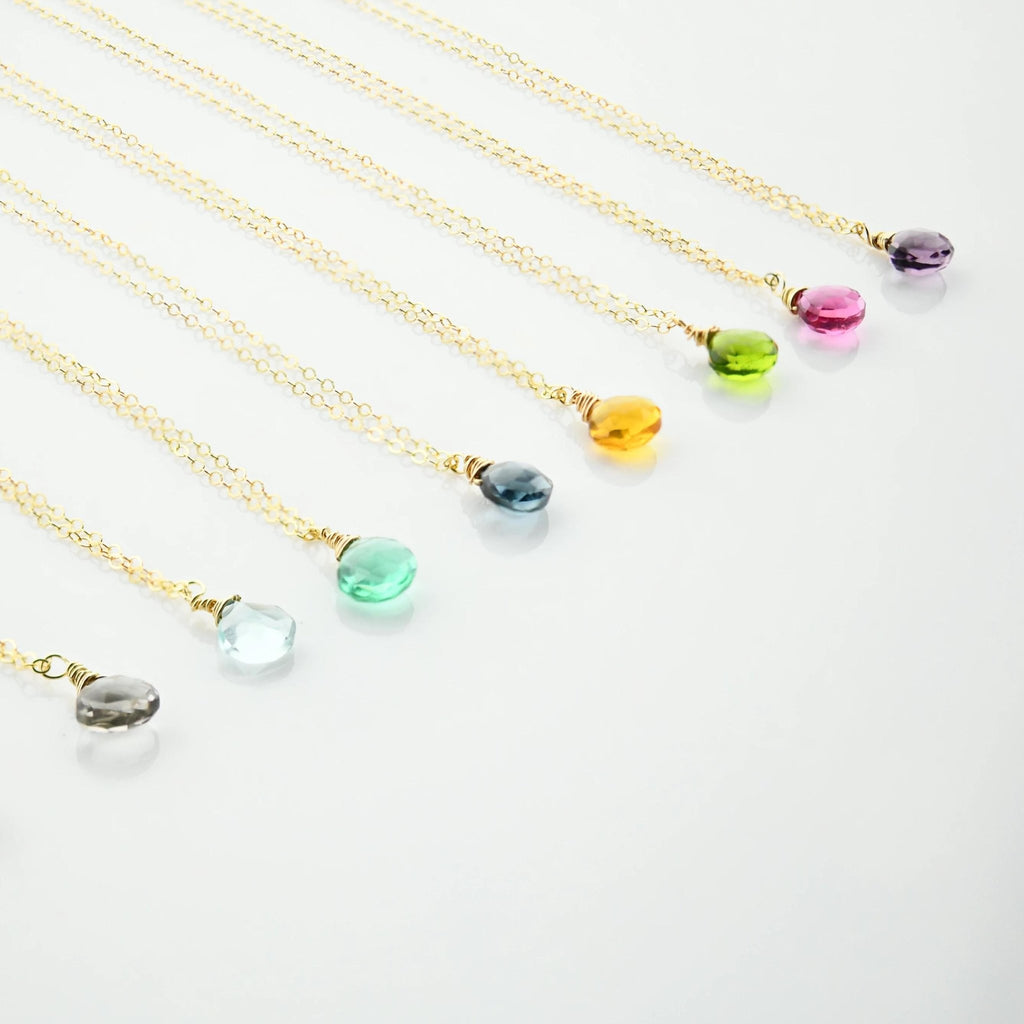 Marin Gemstone Necklace - Delicora Jewelry