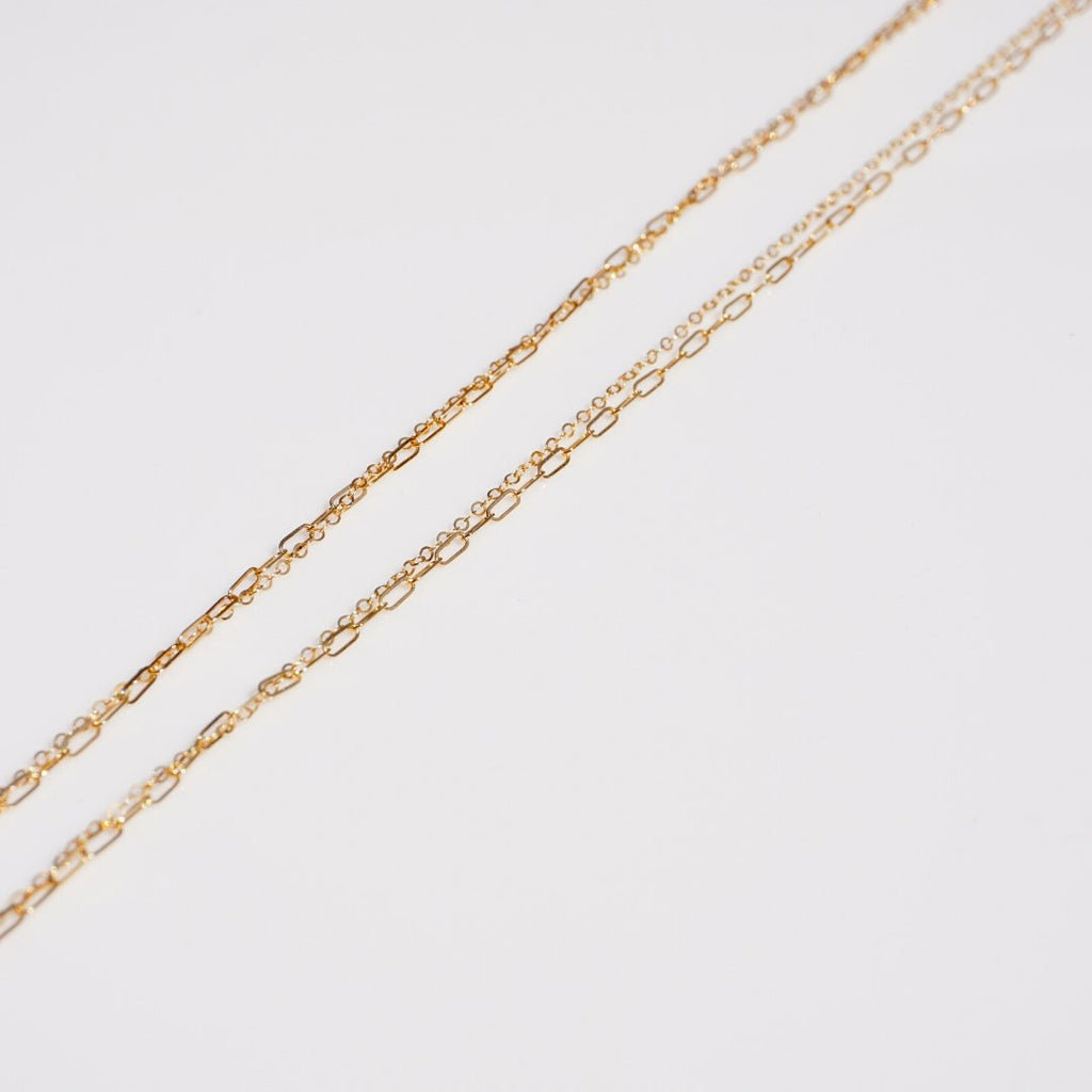 Ross Cove Double Chain Necklace - Delicora Jewelry