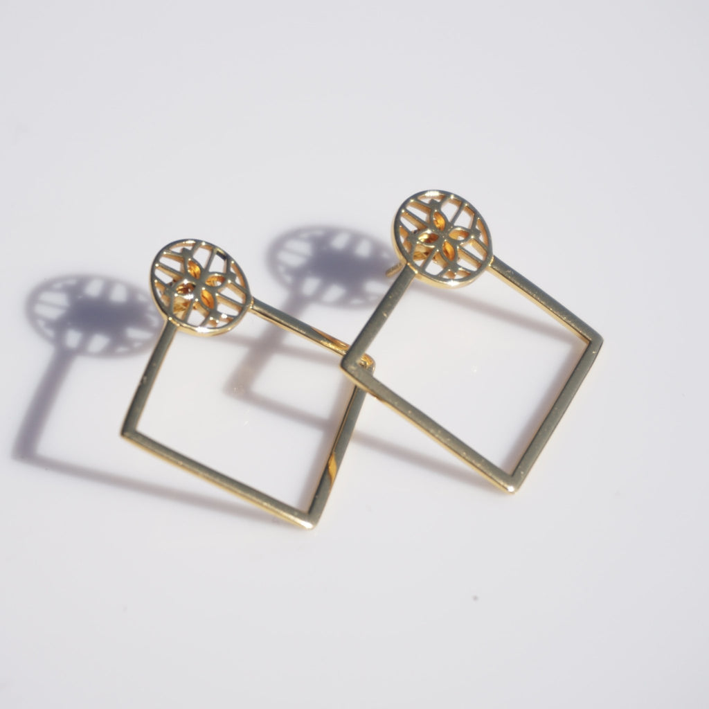 Sandra Diamond Hoops - Delicora Jewelry