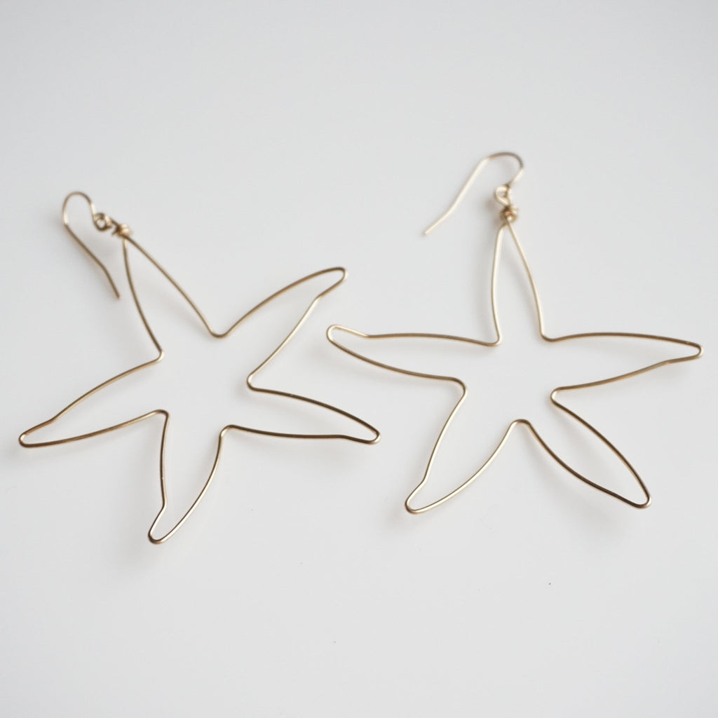 Star Beach Hoops - Delicora Jewelry