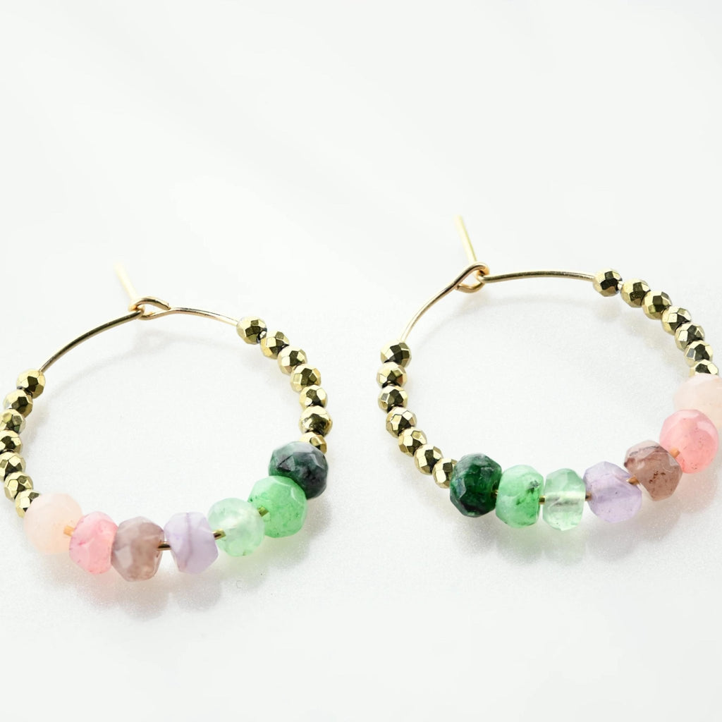 Thi Jade Mini Hoops - Delicora Jewelry