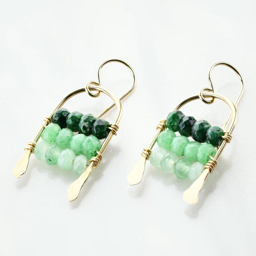 Tung Jade Drop Earrings - Delicora Jewelry