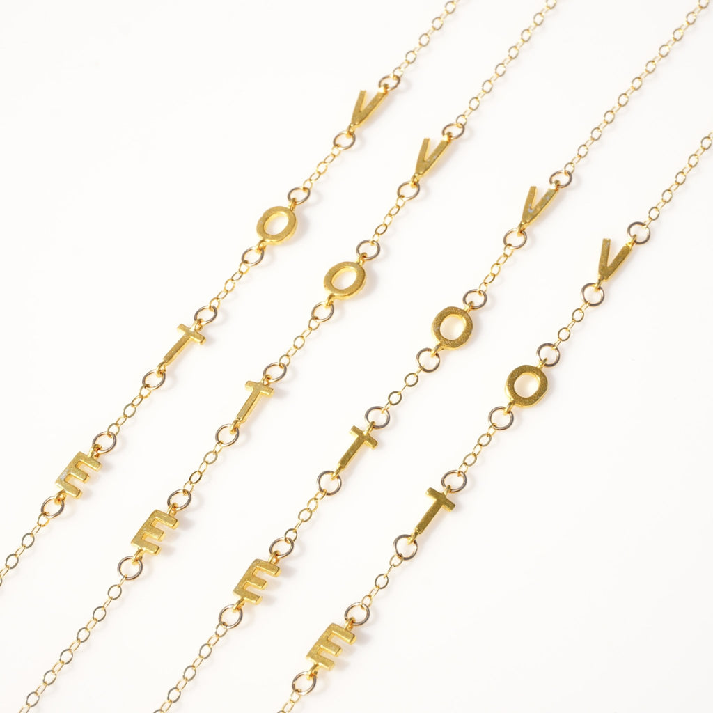 VOTE Necklace - Delicora Jewelry